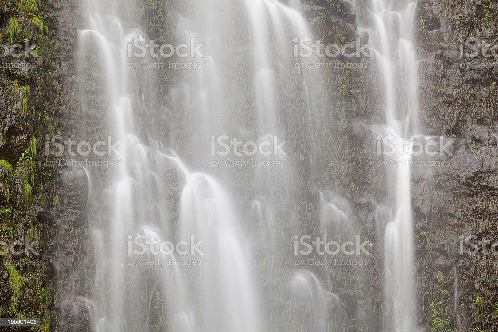 Waterfall Detail, Maui stock photo