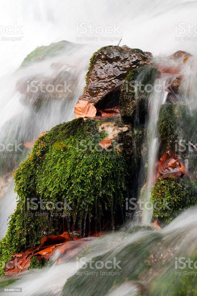 Dettaglio a cascata foto stock royalty-free
