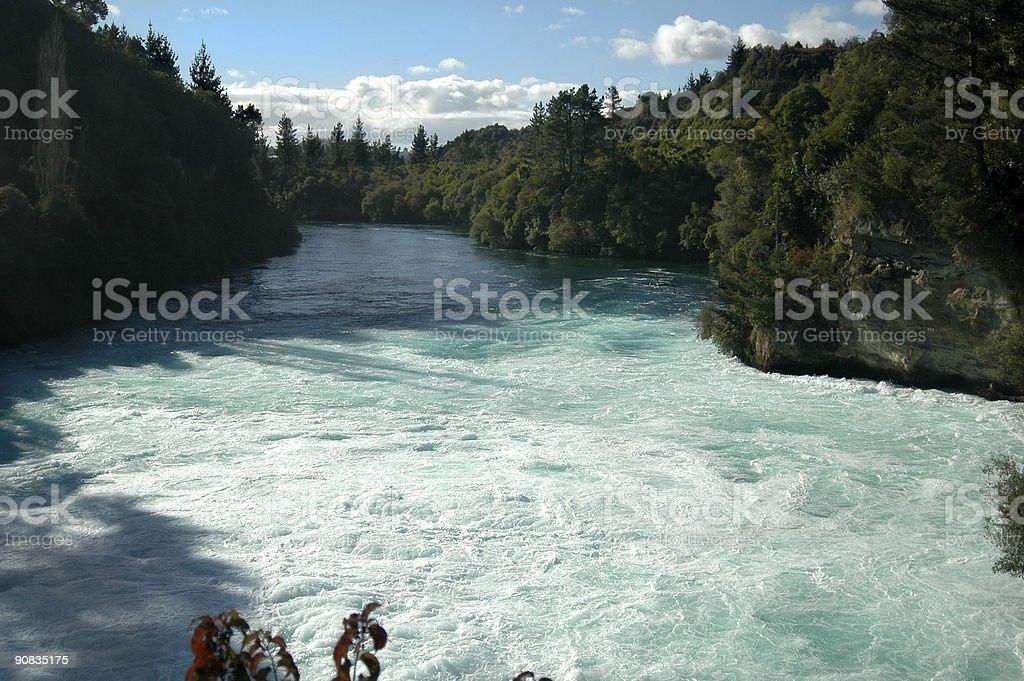 Waterfall Foaming Pool stock photo