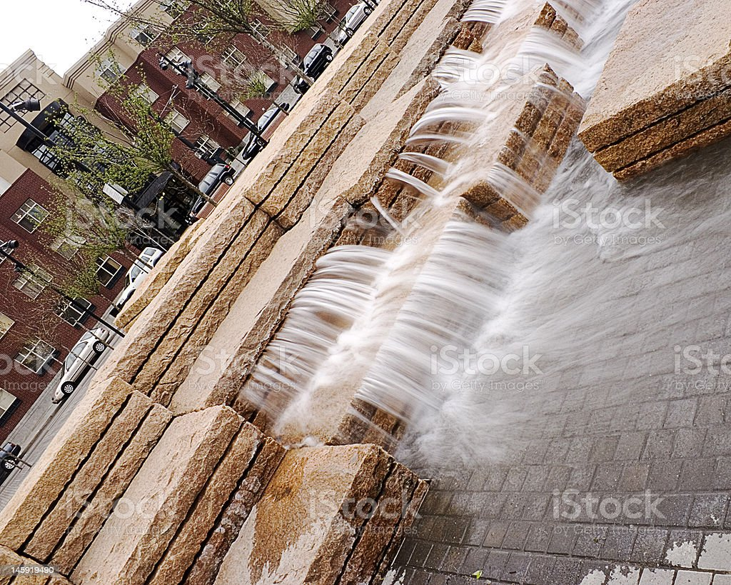 Cascata Fontana in Piazza jamison foto stock royalty-free