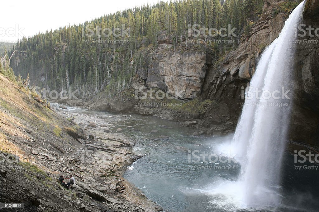 Waterfall from Side stock photo