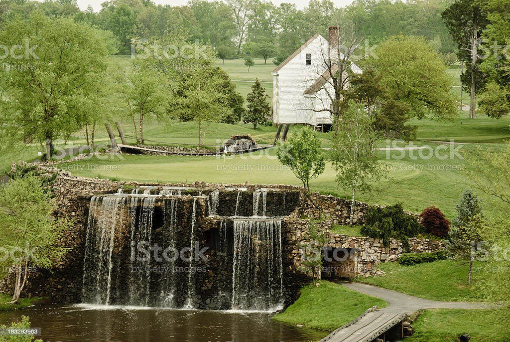 Waterfall Hole at Meadow Farms, Fredericksburg, Virginia stock photo