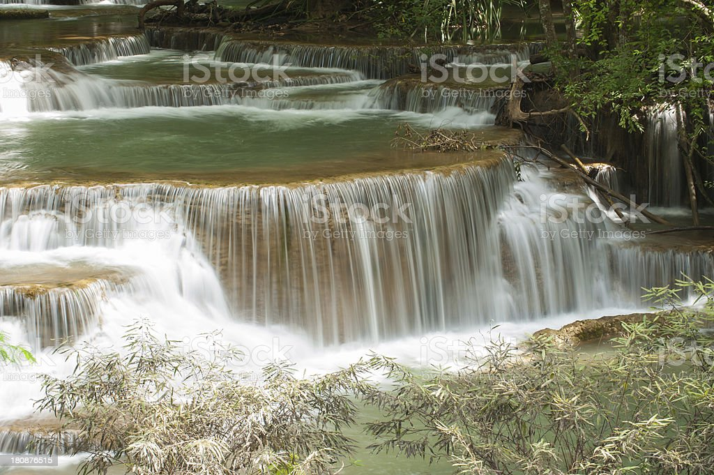 Waterfall Huay Mae Kamin royalty-free stock photo