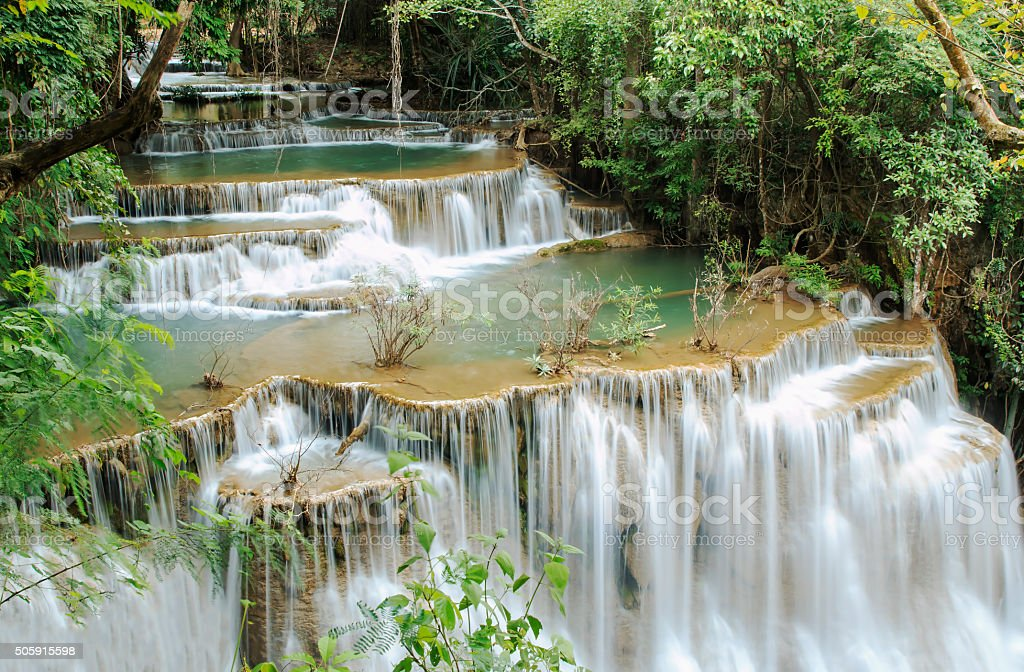 Waterfall ,Huay Mae Kamin stock photo