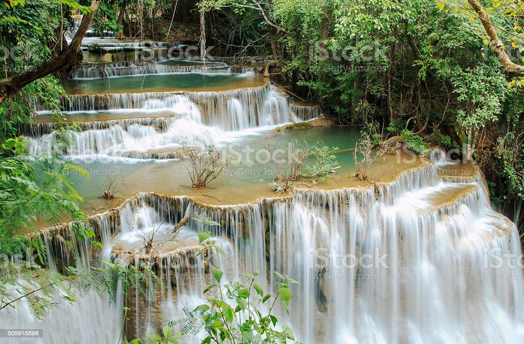 Waterfall ,Huay Mae Kamin stock photo