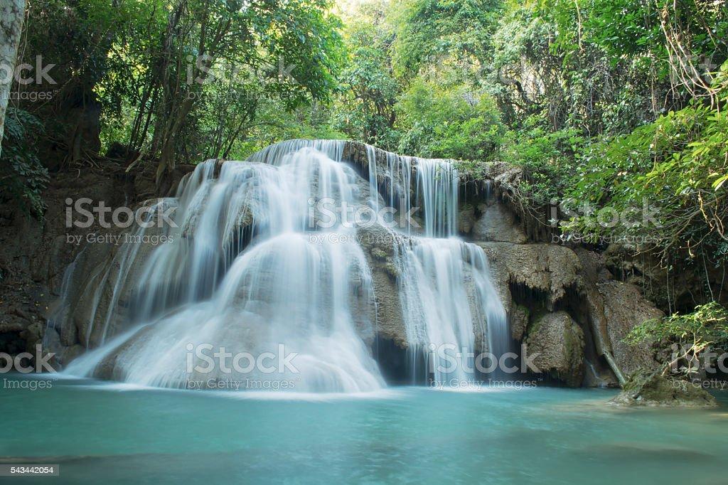 Waterfall Huay Mae Kamin stock photo