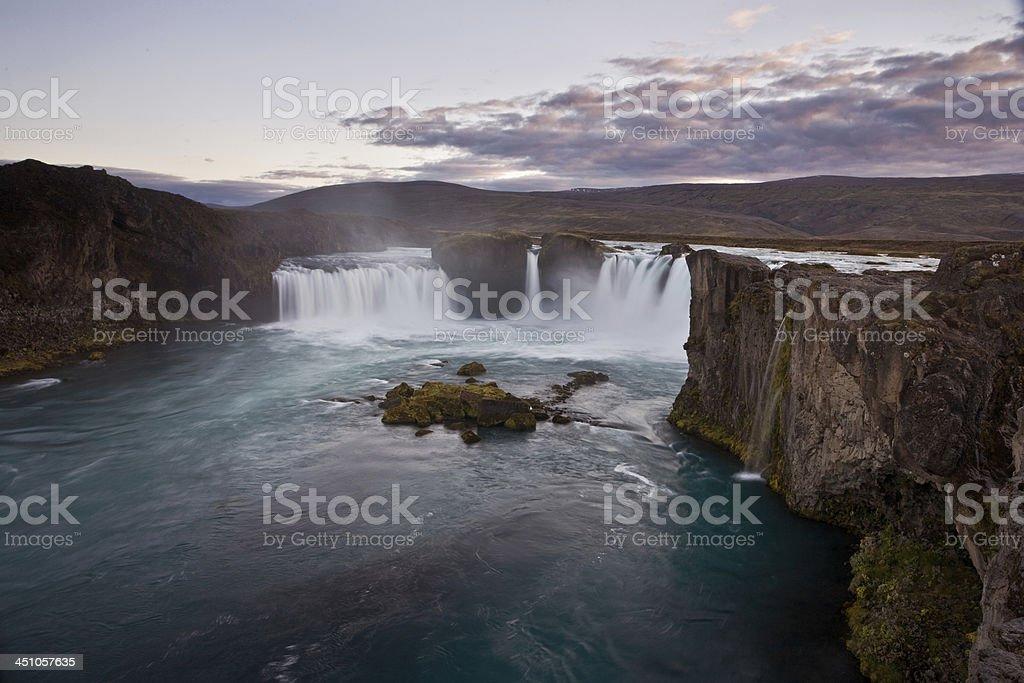 Waterfall, Iceland stock photo