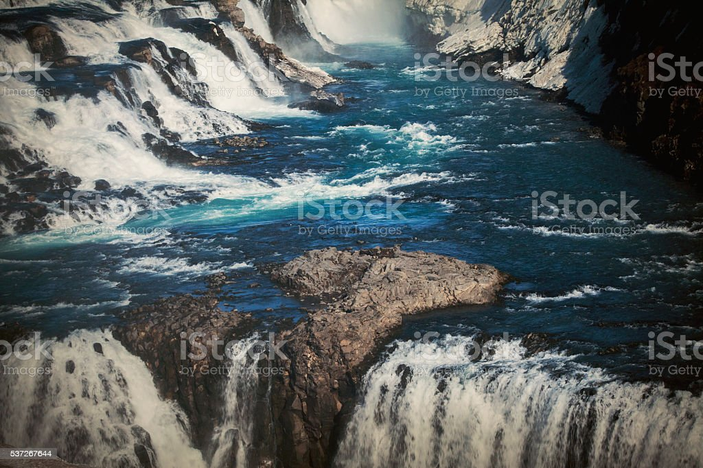 Waterfall iceland stock photo
