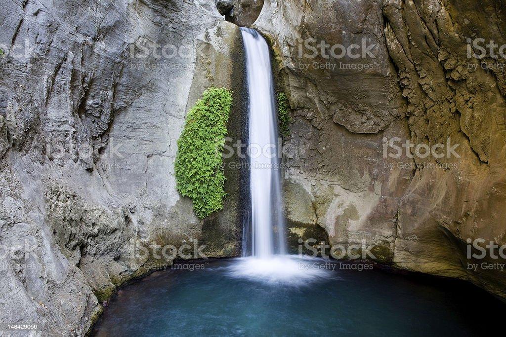 Waterfall in Alanya Turkey stock photo