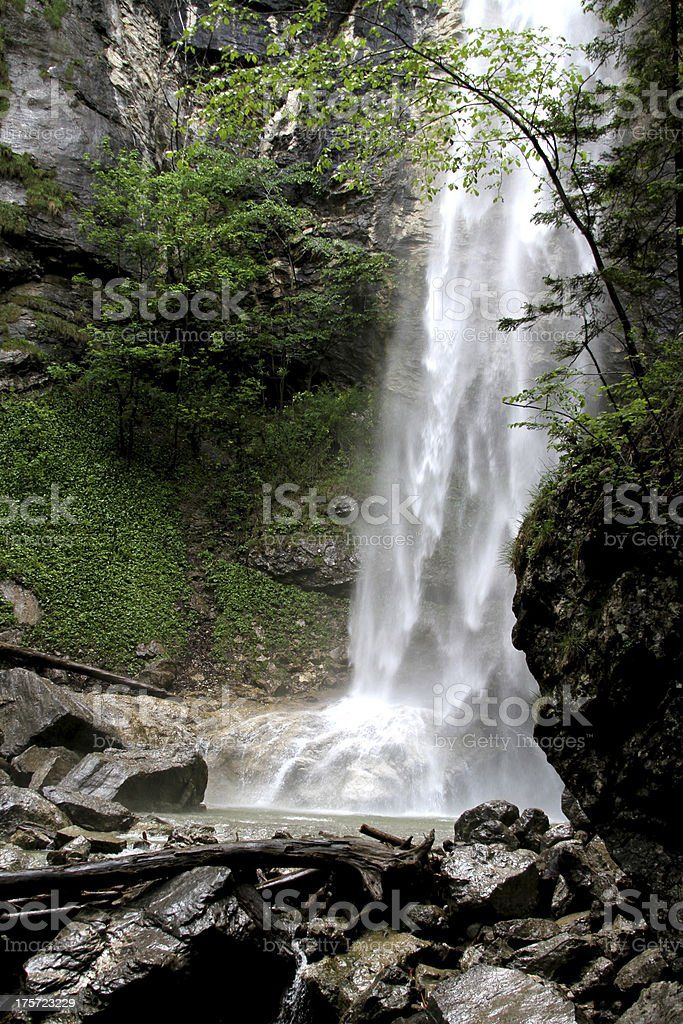 Waterfall in Aschau Bavaria stock photo