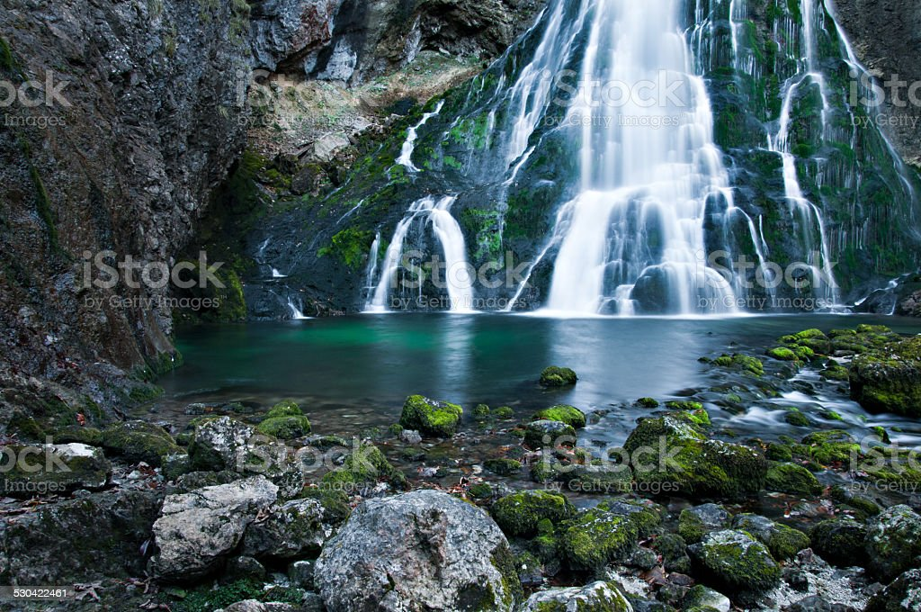 waterfall in Austria stock photo
