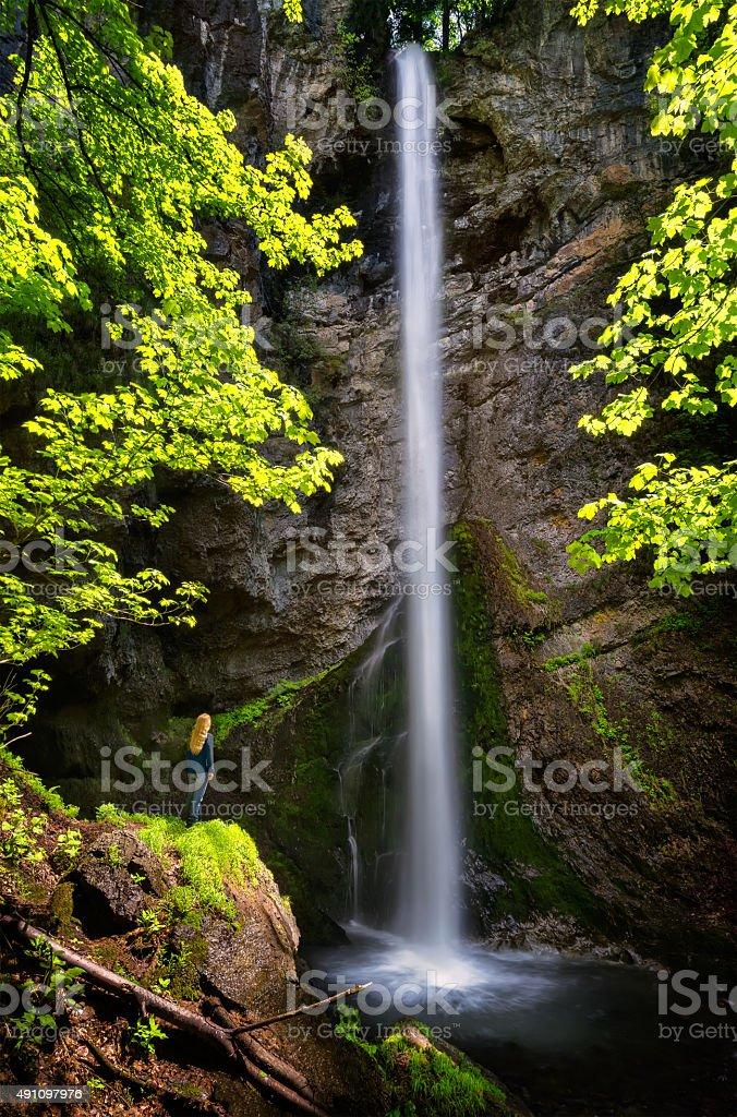 Waterfall in Balkan Mountains stock photo