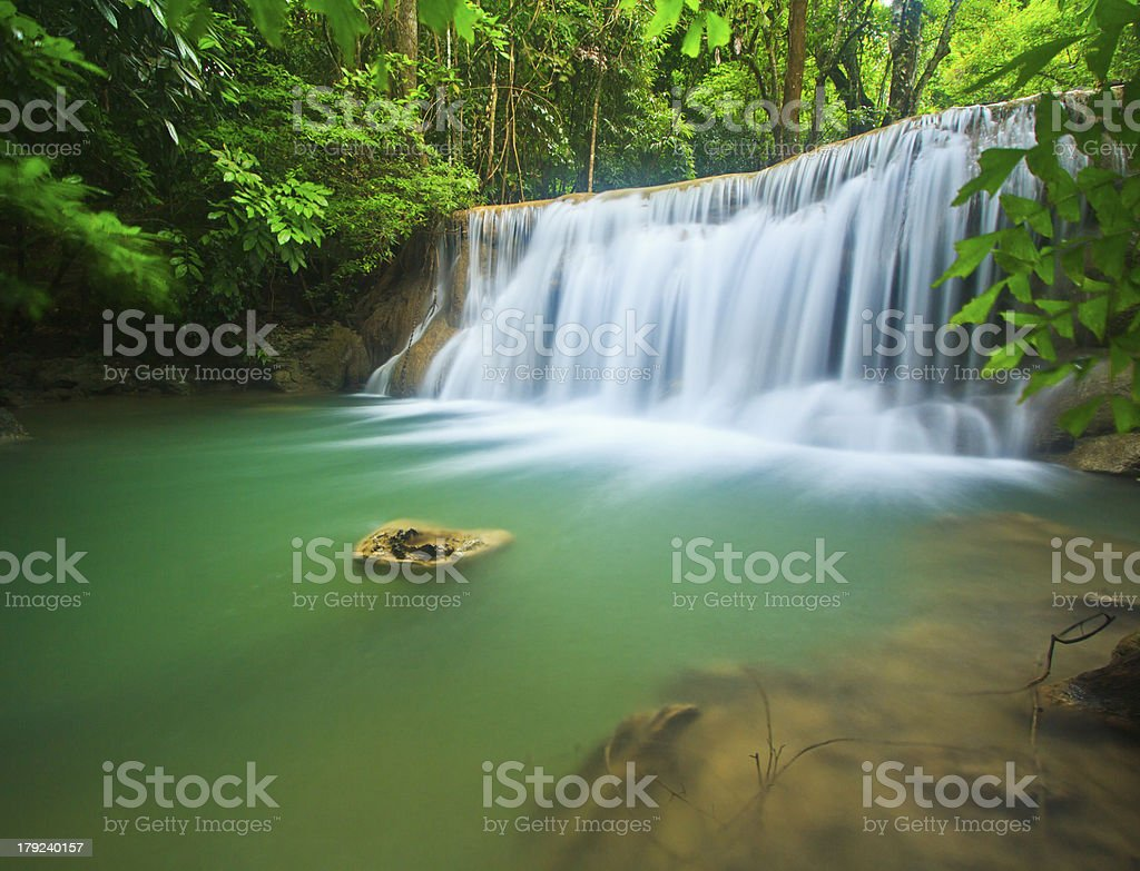 Waterfall in Beautiful forest royalty-free stock photo