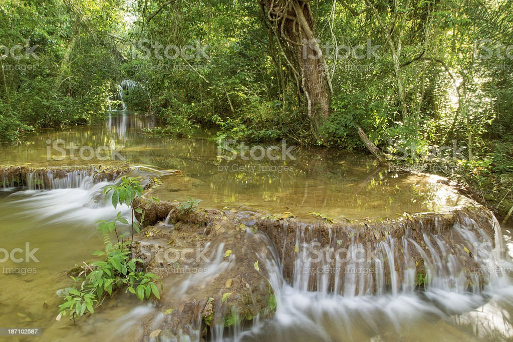 Waterfall in Bonito, Mato Grosso do Sul stock photo