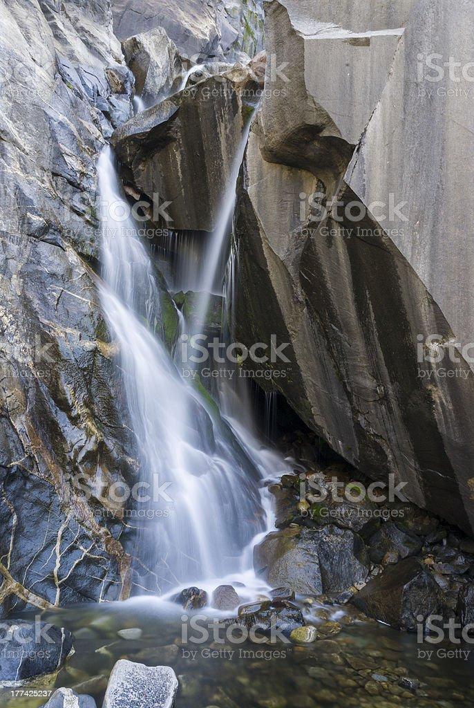 Waterfall in California royalty-free stock photo