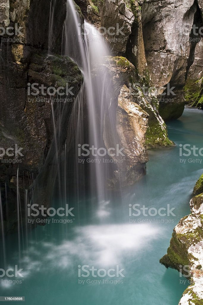 Waterfall in canyon royalty-free stock photo