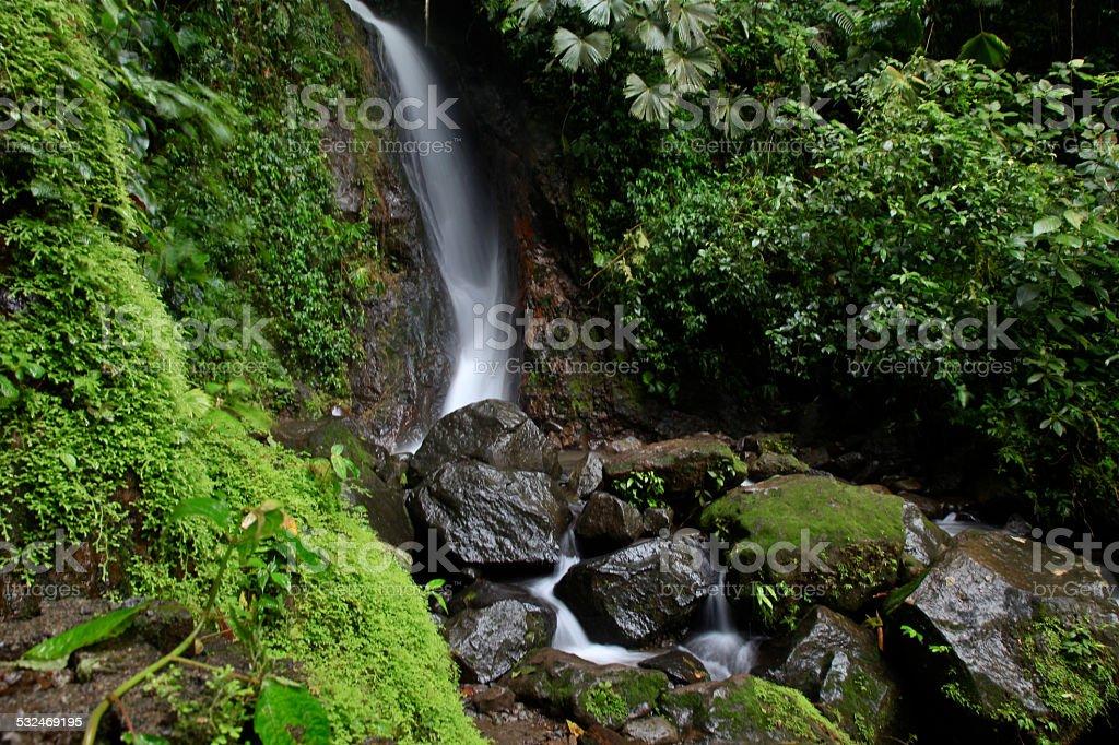 Cascada en Costa Rica stock photo