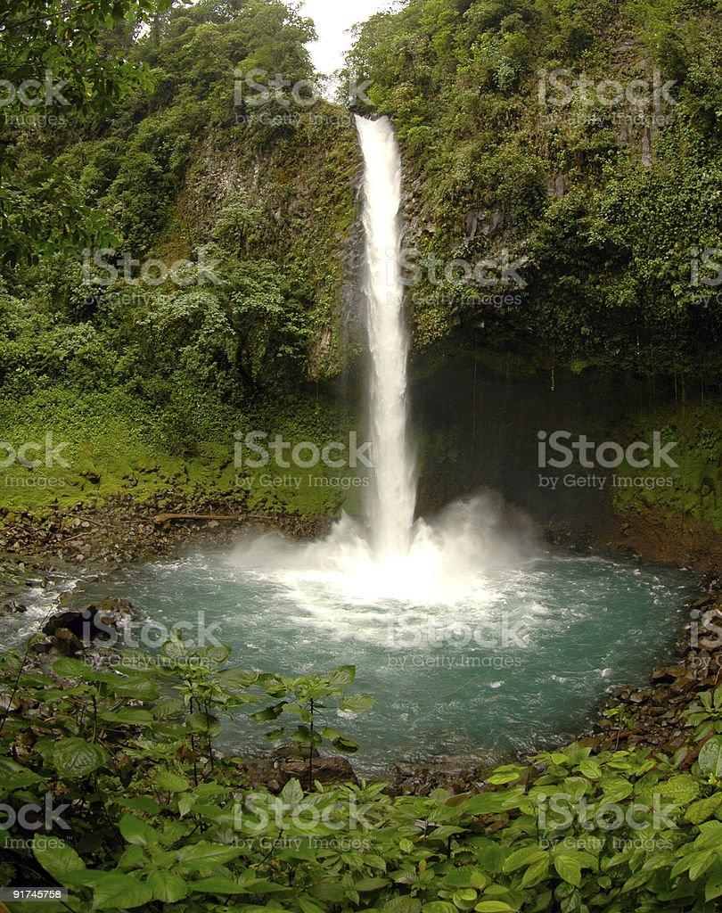 Cascata na Costa Rica foto royalty-free