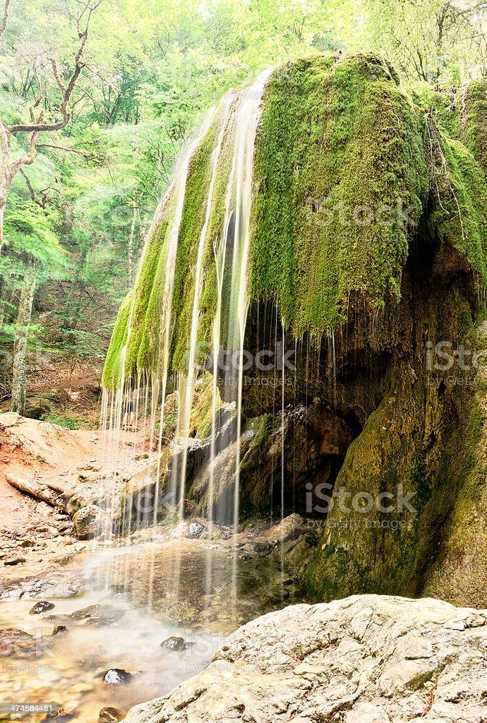 Waterfall in Crimea royalty-free stock photo