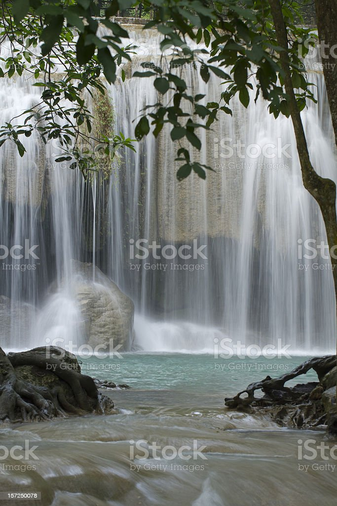 Waterfall in Deep forest ,Thailand royalty-free stock photo