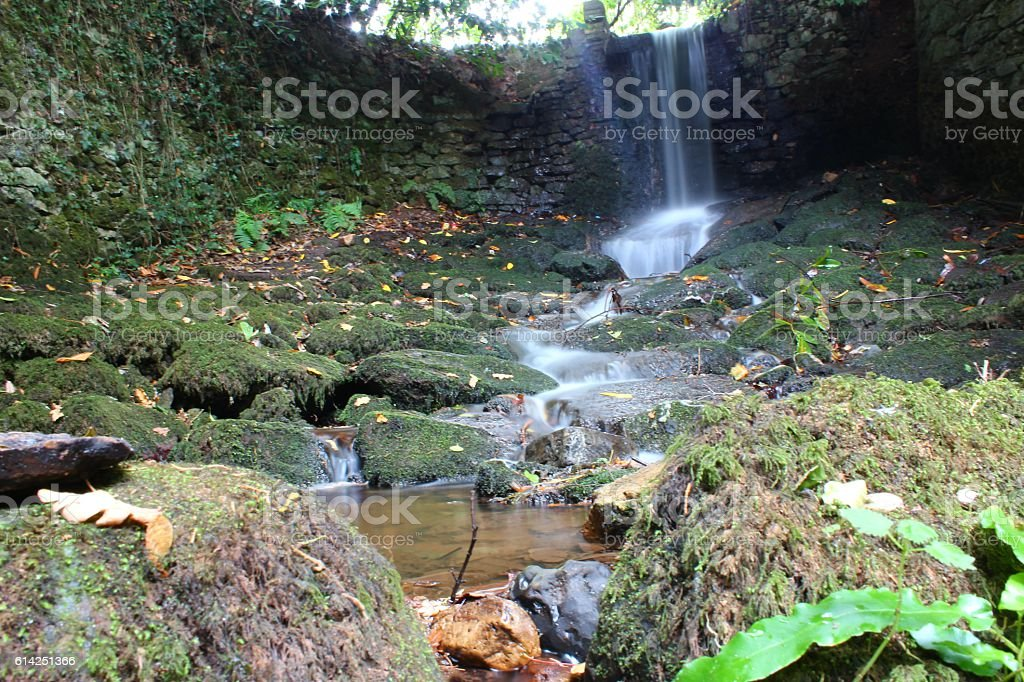 Waterfall in devon. stock photo