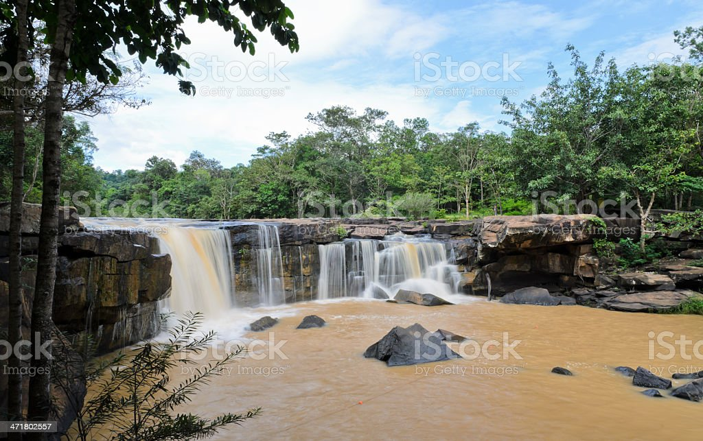 Waterfall in dipterocarp forest royalty-free stock photo