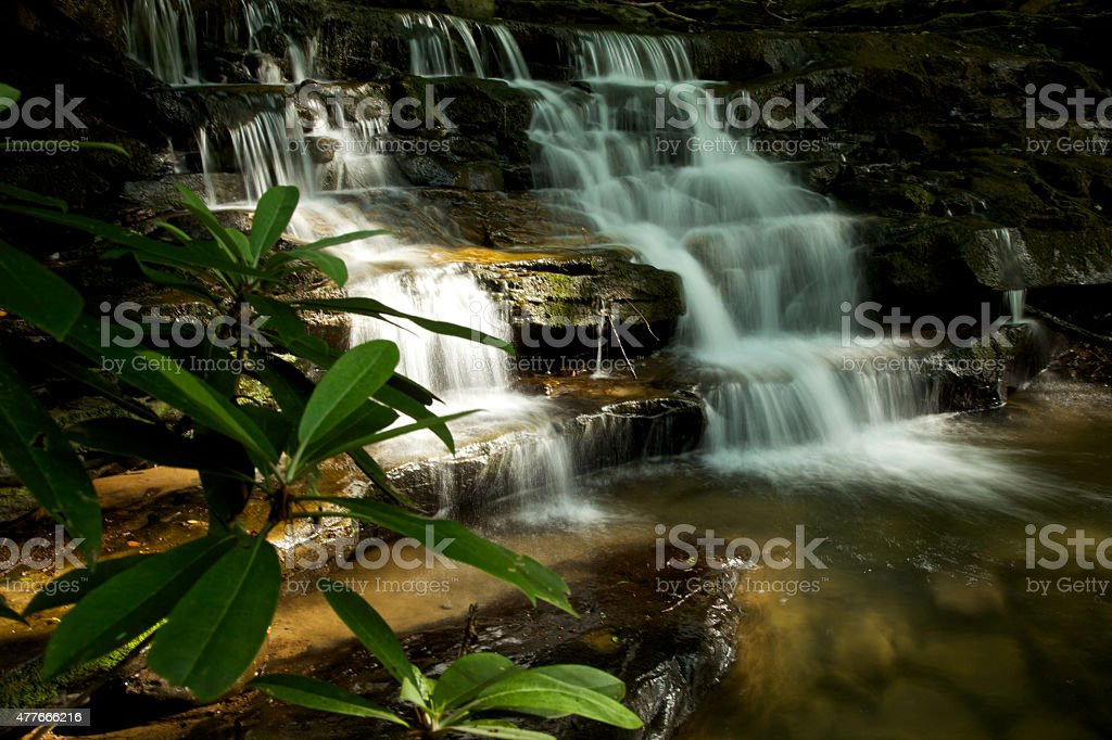 Waterfall In Evening Light stock photo