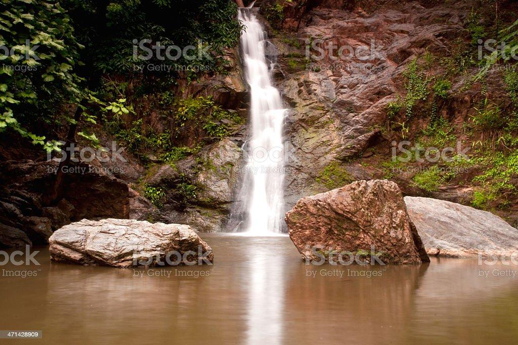Wodospad w lesie zbiór zdjęć royalty-free