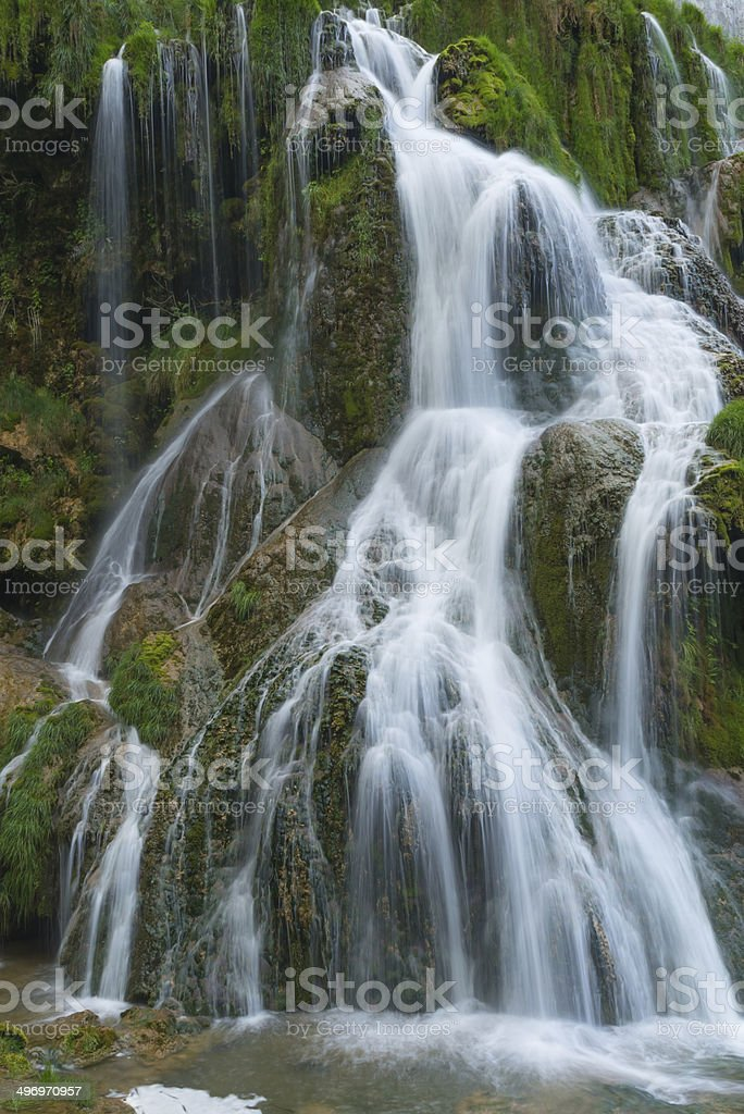 Waterfall in France stock photo