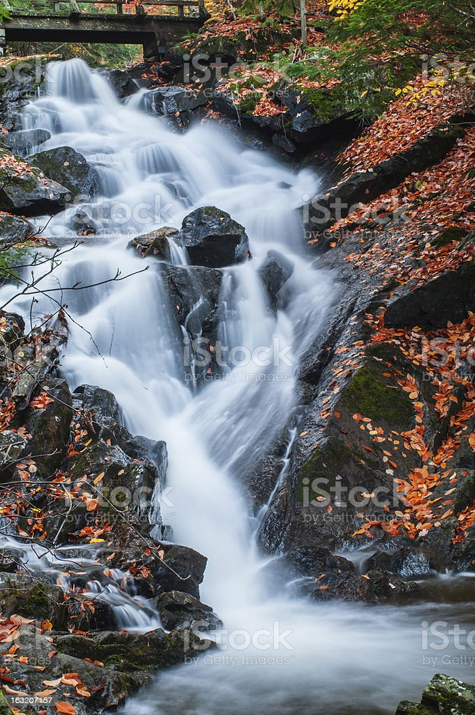 Waterfall in Gatineau Park royalty-free stock photo
