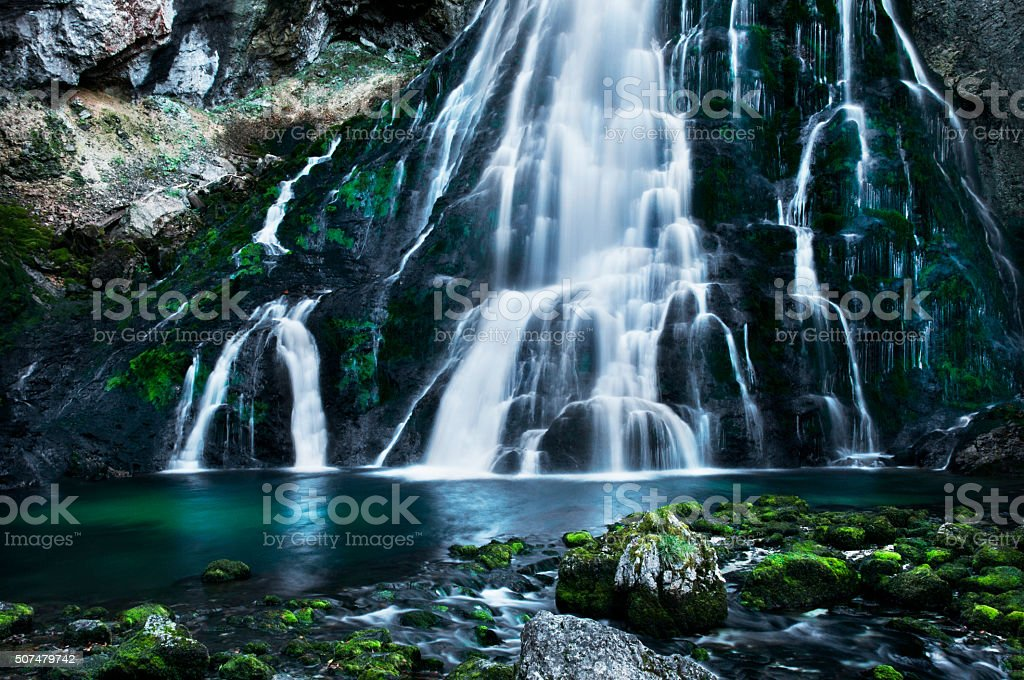 waterfall in Golling - Salzburg - Austria stock photo