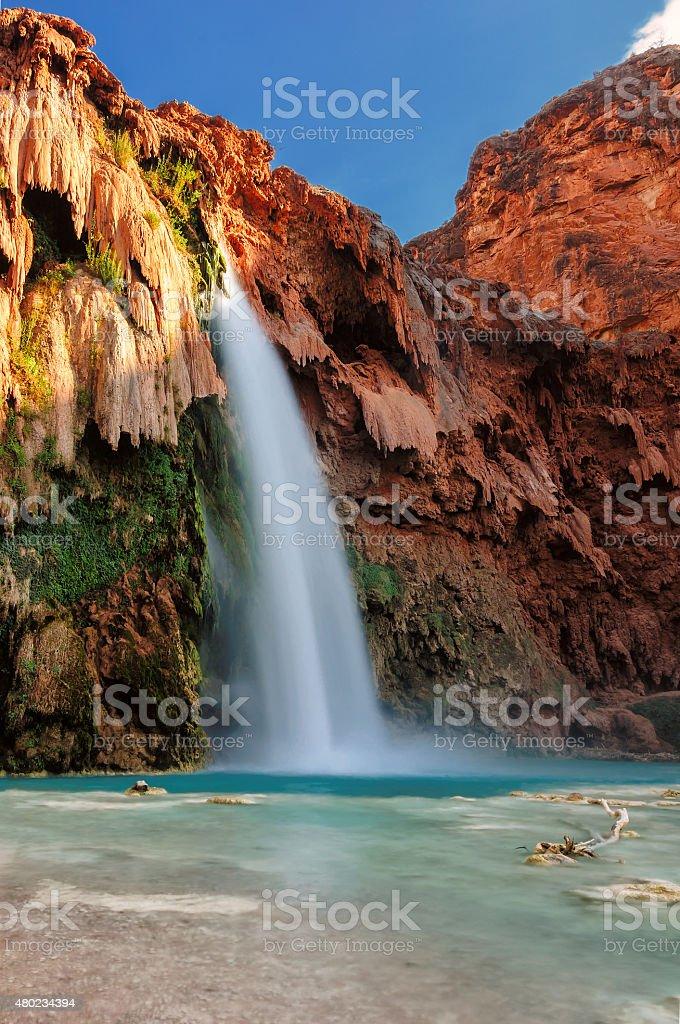 Waterfall in Grand Canyon, Havasu Falls, Arizona stock photo