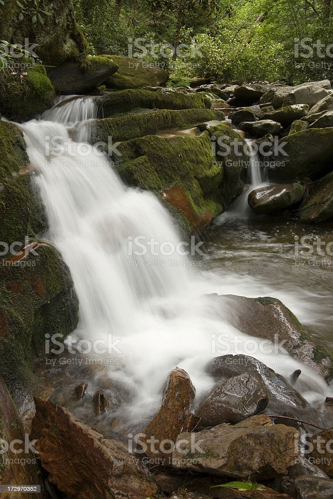 Waterfall in Great Smoky Mountains National Park royalty-free stock photo