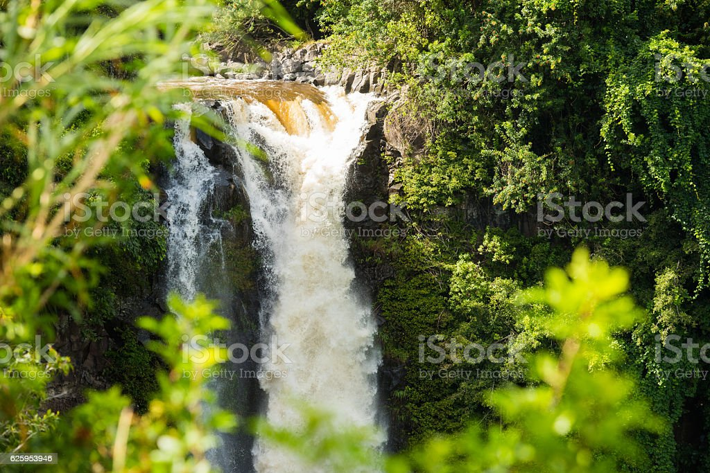 Waterfall in Haleakala National Park, Maui stock photo
