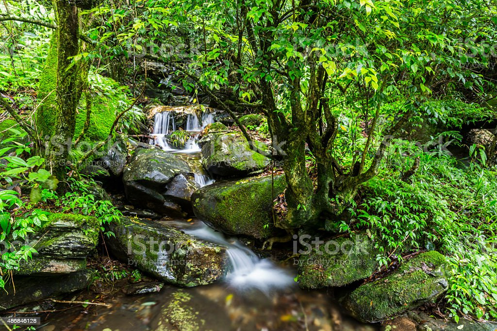Waterfall in Huaping Nature reserve, Guilin,China stock photo