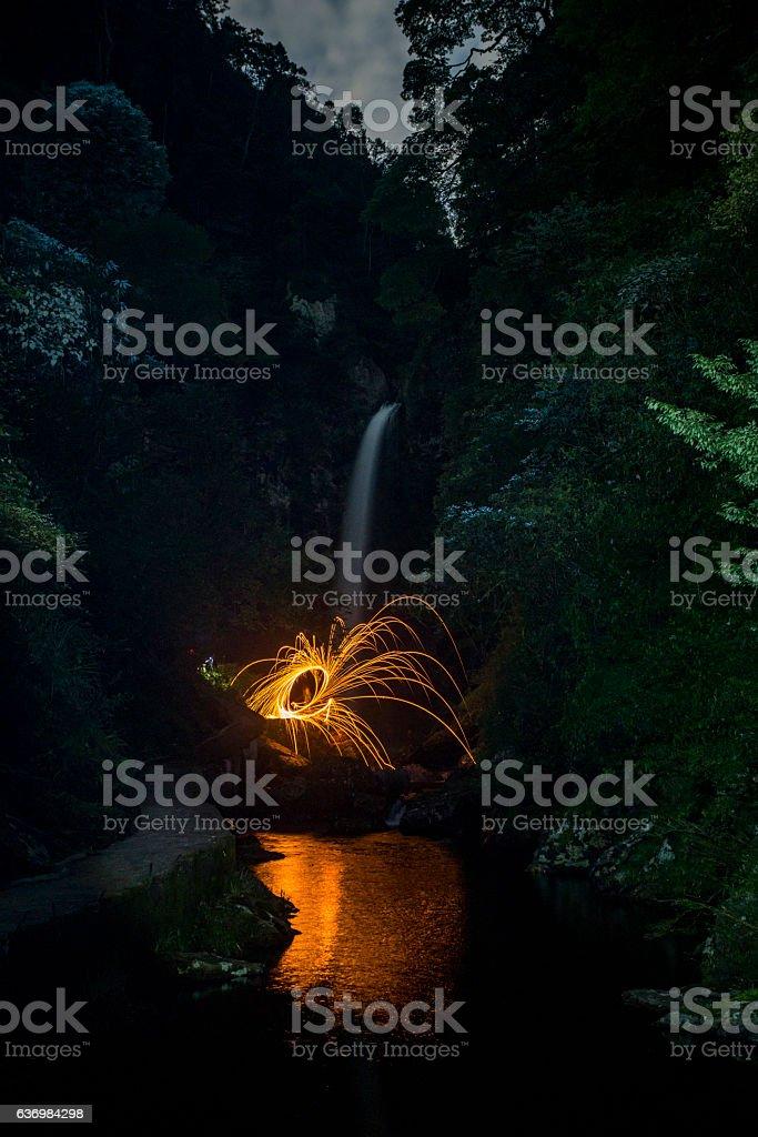 Waterfall in Huaping Nature reserve,Longsheng,Guilin,China stock photo