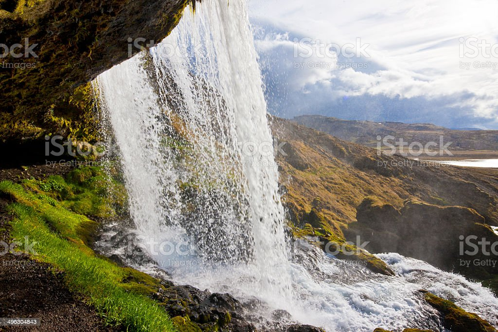 Waterfall in Iceland royalty-free stock photo