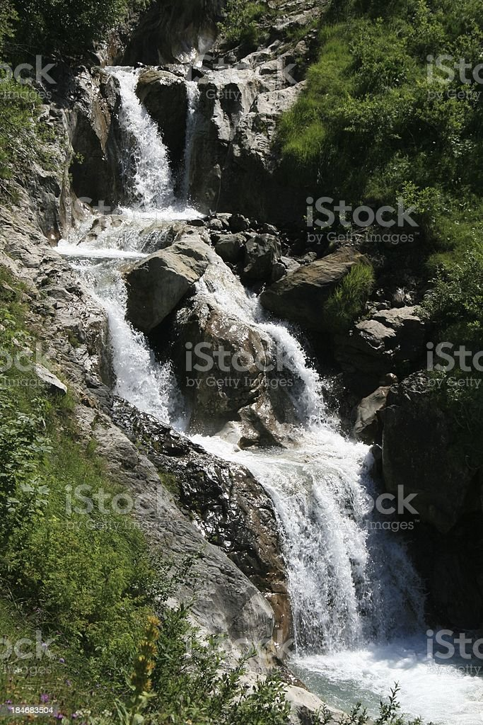 Waterfall in Les Diablerets Area, Swiss royalty-free stock photo