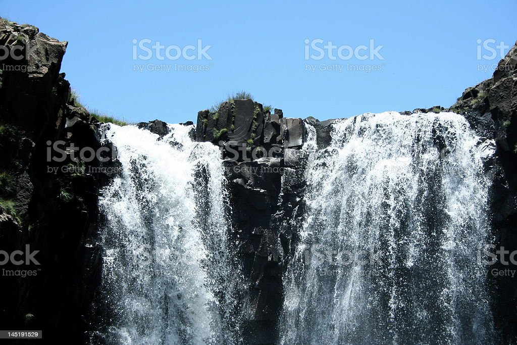 Waterfall in Lesotho stock photo