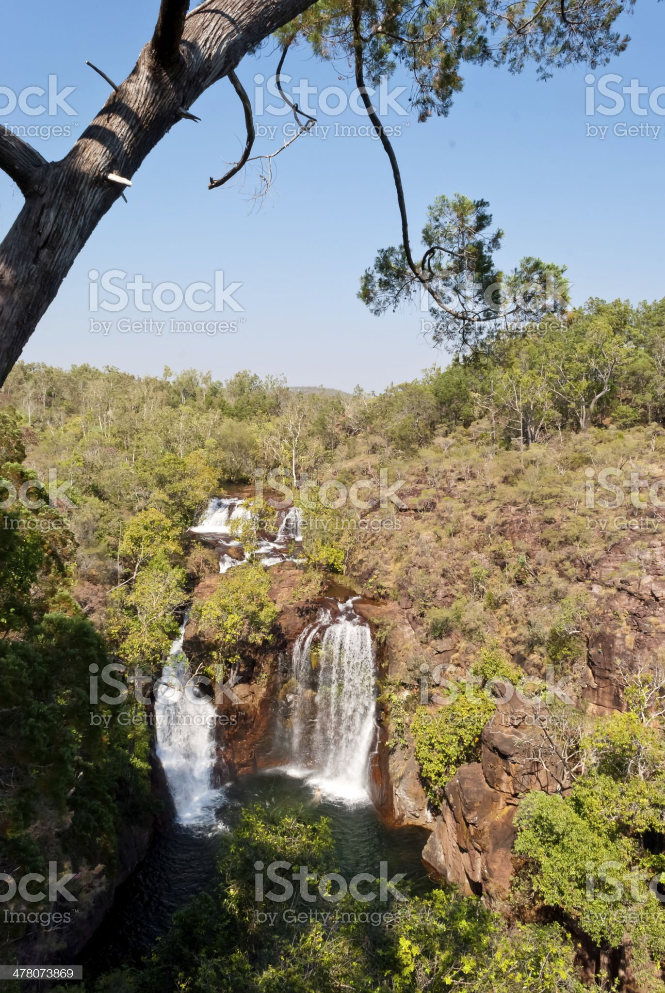 Waterfall in Litchfield National Park, Australia royalty-free stock photo