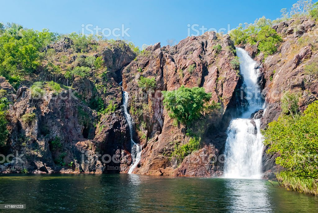 A waterfall in Litchfield National Park in Australia stock photo