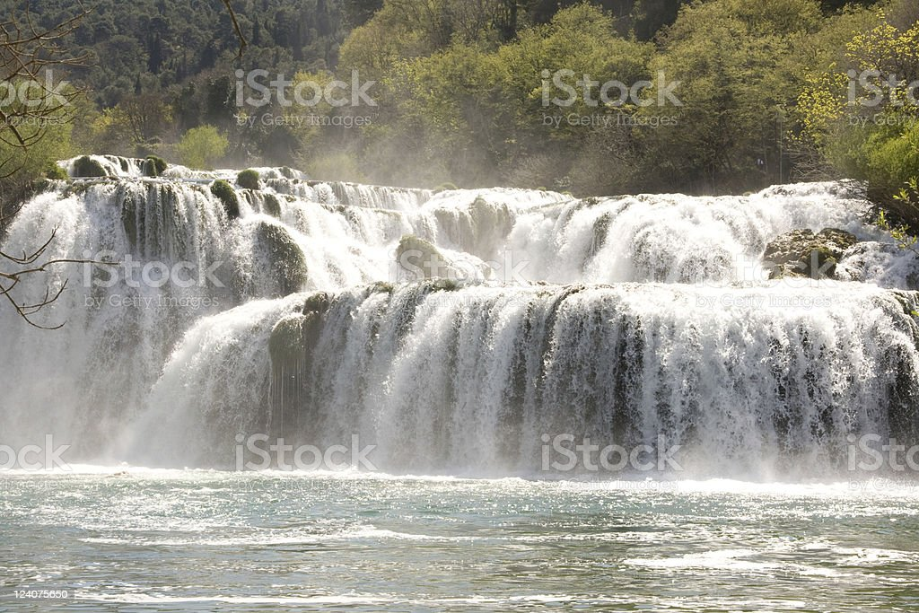 Waterfall in National Park Krka stock photo
