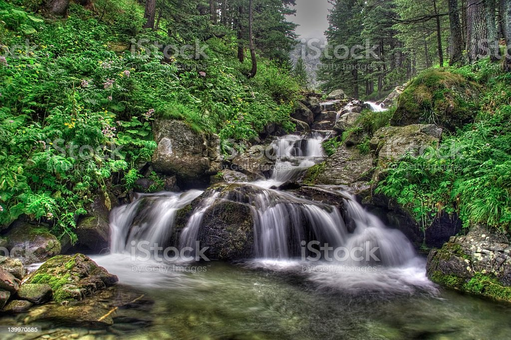 Waterfall in national park Rila royalty-free stock photo