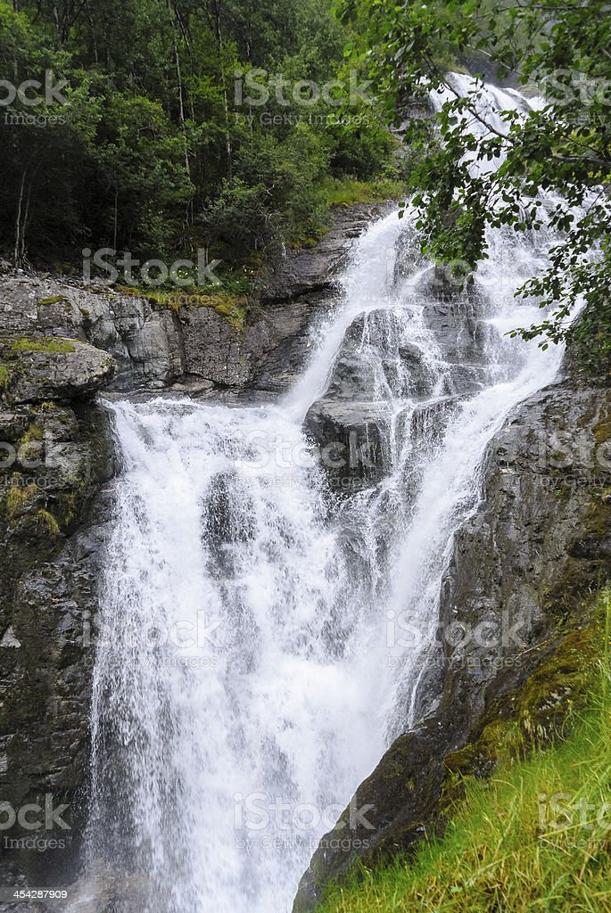 Waterfall in Norway stock photo