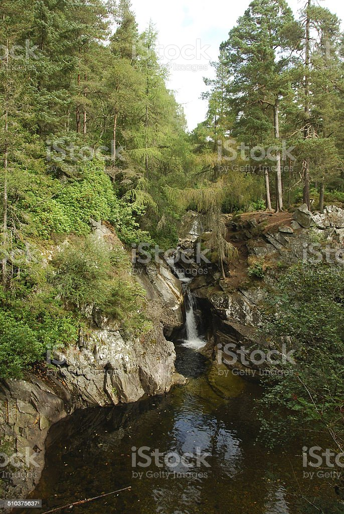 Waterfall in Perthshire stock photo