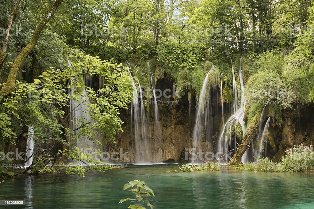 Waterfall in Plitvice National Park royalty-free stock photo