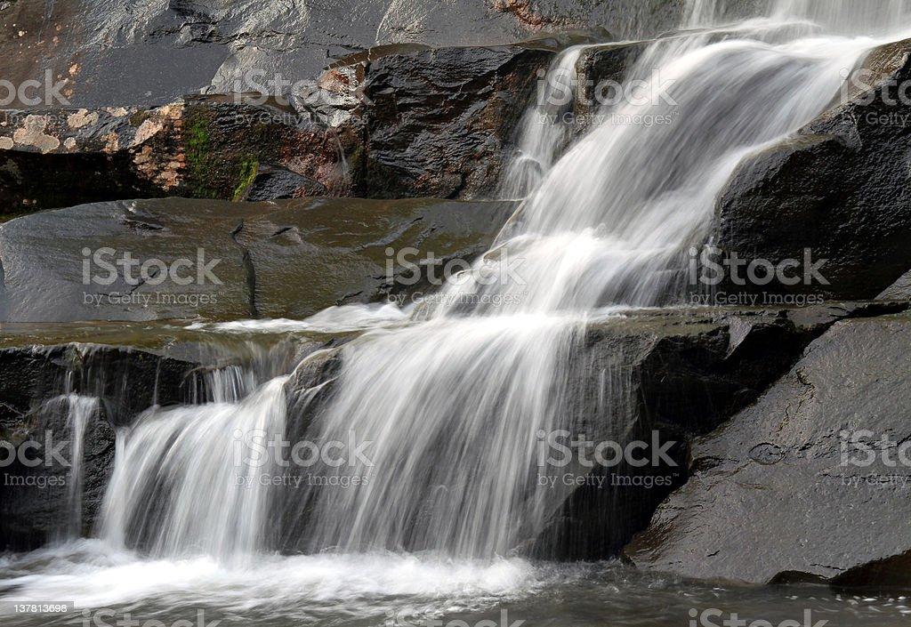 Waterfall in Rock Glen stock photo