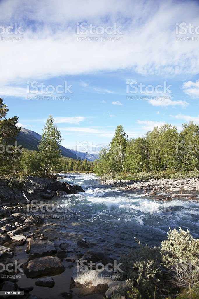 Waterfall in summer. royalty-free stock photo