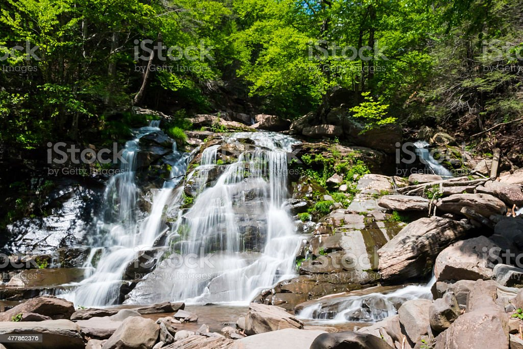 Waterfall in Summertime stock photo