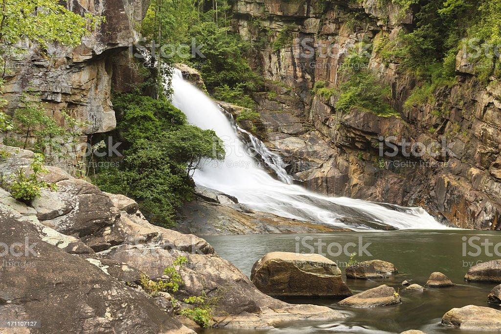 Waterfall In Tallulah Gorge stock photo